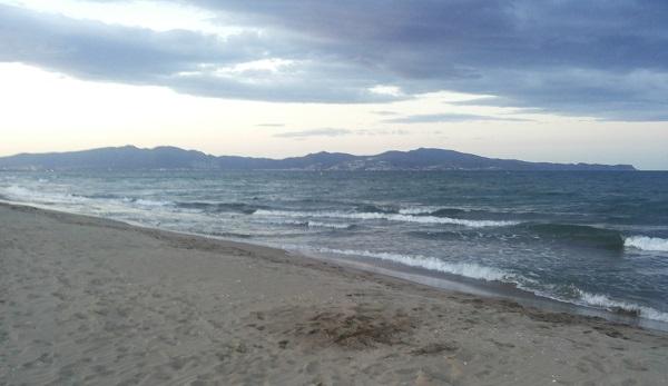Zee na zonsondergang
