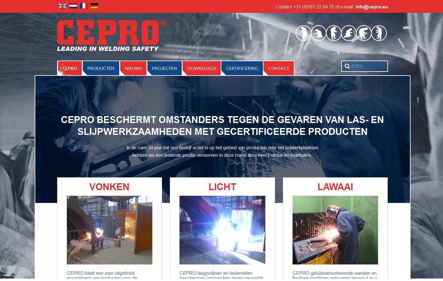 De nieuwe website