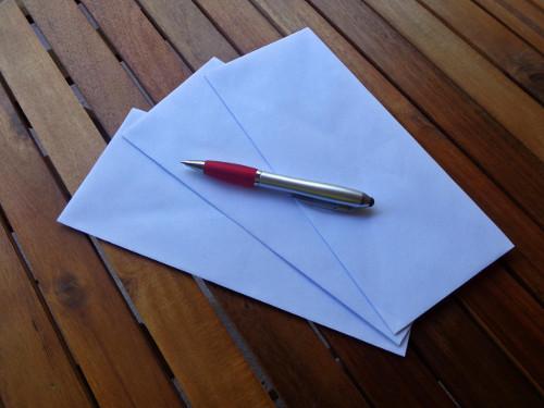 verdwijnen blauwe envelop